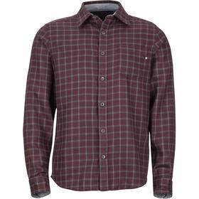 Marmot Fairfax Midweight Flannel LS Shirt Herr burgundy